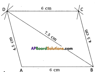 AP Board 8th Class Maths Solutions Chapter 3 Construction of Quadrilaterals Ex 3.2 4
