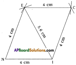 AP Board 8th Class Maths Solutions Chapter 3 Construction of Quadrilaterals Ex 3.2 6