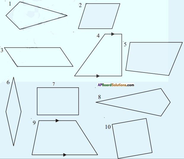 AP Board 8th Class Maths Solutions Chapter 3 Construction of Quadrilaterals Questions 10