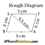 AP Board 8th Class Maths Solutions Chapter 3 Construction of Quadrilaterals Questions 11