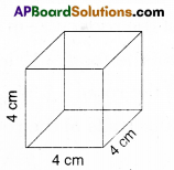 AP Board 9th Class Maths Solutions Chapter 10 Surface Areas and Volumes Ex 10.1 1