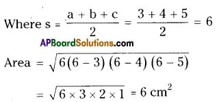 AP Board 9th Class Maths Solutions Chapter 10 Surface Areas and Volumes Ex 10.1 2