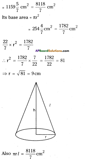 AP Board 9th Class Maths Solutions Chapter 10 Surface Areas and Volumes Ex 10.3 3