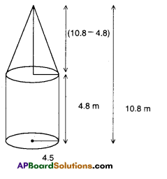 AP Board 9th Class Maths Solutions Chapter 10 Surface Areas and Volumes Ex 10.3 5