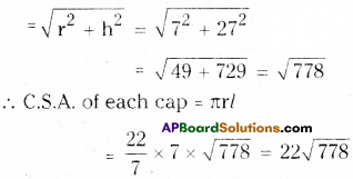 AP Board 9th Class Maths Solutions Chapter 10 Surface Areas and Volumes Ex 10.3 8
