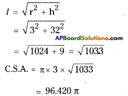 AP Board 9th Class Maths Solutions Chapter 10 Surface Areas and Volumes Ex 10.3 9