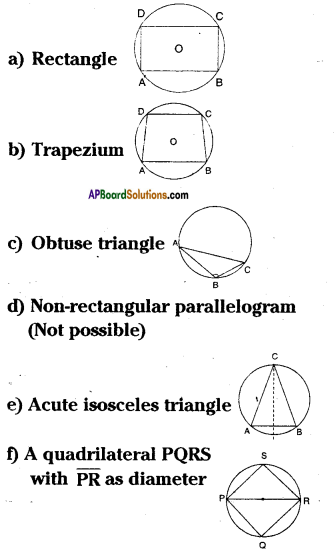 AP Board 9th Class Maths Solutions Chapter 12 Circles Ex 12.5 5