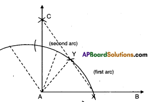 AP Board 9th Class Maths Solutions Chapter 13 Geometrical Constructions Ex 13.1 2