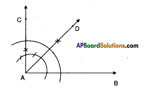AP Board 9th Class Maths Solutions Chapter 13 Geometrical Constructions Ex 13.1 3