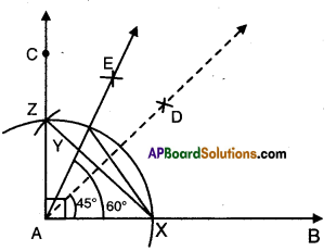 AP Board 9th Class Maths Solutions Chapter 13 Geometrical Constructions Ex 13.1 4