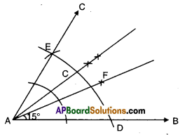 AP Board 9th Class Maths Solutions Chapter 13 Geometrical Constructions Ex 13.1 7