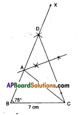 AP Board 9th Class Maths Solutions Chapter 13 Geometrical Constructions Ex 13.2 1