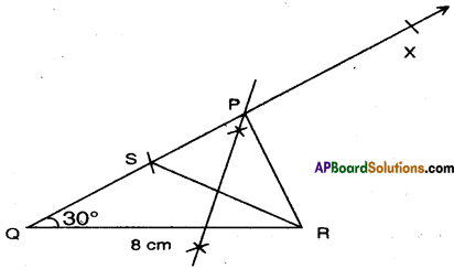 AP Board 9th Class Maths Solutions Chapter 13 Geometrical Constructions Ex 13.2 2