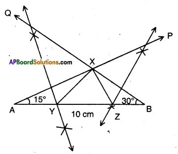 AP Board 9th Class Maths Solutions Chapter 13 Geometrical Constructions Ex 13.2 3