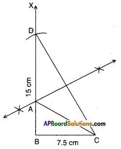 AP Board 9th Class Maths Solutions Chapter 13 Geometrical Constructions Ex 13.2 4