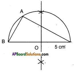 AP Board 9th Class Maths Solutions Chapter 13 Geometrical Constructions Ex 13.2 5