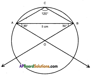 AP Board 9th Class Maths Solutions Chapter 13 Geometrical Constructions Ex 13.2 9