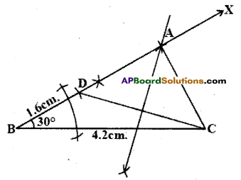 AP Board 9th Class Maths Solutions Chapter 13 Geometrical Constructions InText Questions 3