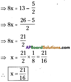 AP Board 9th Class Maths Solutions Chapter 2 Linear Equations in One Variable Ex 2.1 1