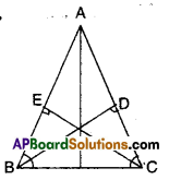AP Board 9th Class Maths Solutions Chapter 7 Triangles Ex 7.2 3