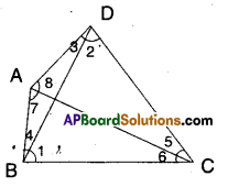 AP Board 9th Class Maths Solutions Chapter 7 Triangles Ex 7.4 5