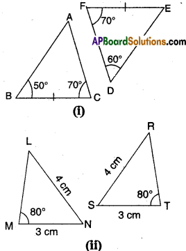 AP Board 9th Class Maths Solutions Chapter 7 Triangles InText Questions 1