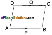 AP Board 9th Class Maths Solutions Chapter 8 Quadrilaterals Ex 8.3 3