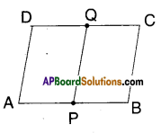 AP Board 9th Class Maths Solutions Chapter 8 Quadrilaterals Ex 8.3 4
