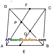 AP Board 9th Class Maths Solutions Chapter 8 Quadrilaterals Ex 8.4 4