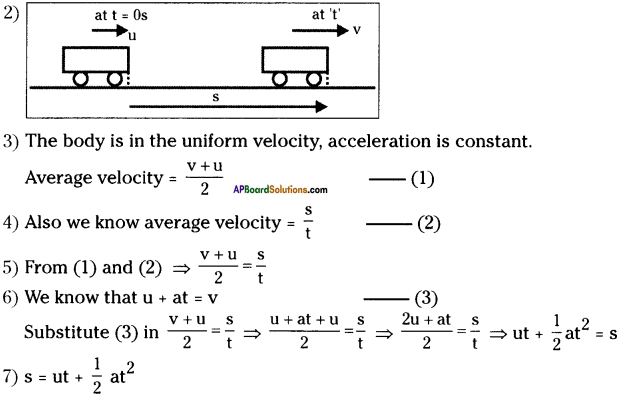 AP Board 9th Class Physical Science Important Questions Chapter 1 Motion 25