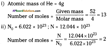 AP Board 9th Class Physical Science Important Questions Chapter 4 Atoms and Molecules 6