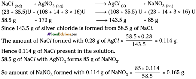 AP Board 9th Class Physical Science Important Questions Chapter 6 Chemical Reactions and Equations 11