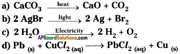 AP Board 9th Class Physical Science Important Questions Chapter 6 Chemical Reactions and Equations 7
