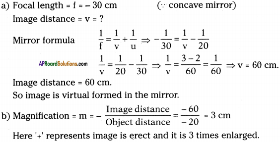AP Board 9th Class Physical Science Important Questions Chapter 7 Reflection of Light at Curved Surfaces 30