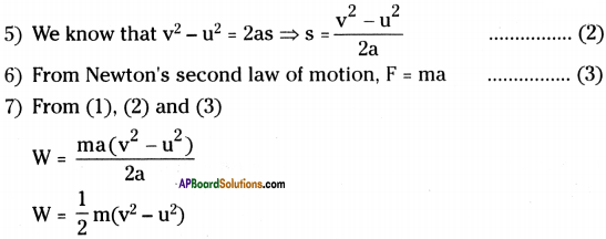 AP Board 9th Class Physical Science Solutions Chapter 10 Work and Energy 4
