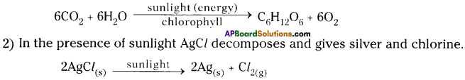 AP Board 9th Class Physical Science Solutions Chapter 6 Chemical Reactions and Equations 3