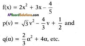 AP SSC 10th Class Maths Chapter 3 Polynomials InText Questions 1