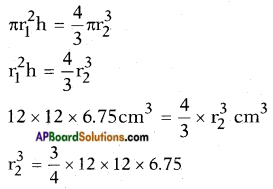 AP SSC 10th Class Maths Solutions Chapter 10 Mensuration Optional Exercise 3