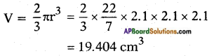 AP SSC 10th Class Maths Solutions Chapter 10 Mensuration Optional Exercise 6