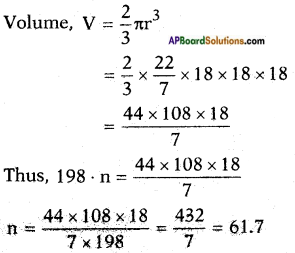 AP SSC 10th Class Maths Solutions Chapter 10 Mensuration Optional Exercise 8