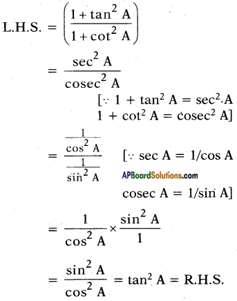 AP SSC 10th Class Maths Solutions Chapter 11 Trigonometry Optional Exercise 8