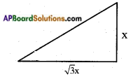 AP SSC 10th Class Maths Solutions Chapter 12 Applications of Trigonometry Optional Exercise 11