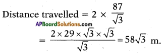 AP SSC 10th Class Maths Solutions Chapter 12 Applications of Trigonometry Optional Exercise 2
