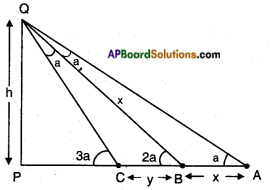 AP SSC 10th Class Maths Solutions Chapter 12 Applications of Trigonometry Optional Exercise 5