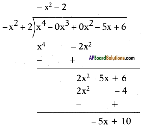 AP SSC 10th Class Maths Solutions Chapter 3 Polynomials Ex 3.4 3