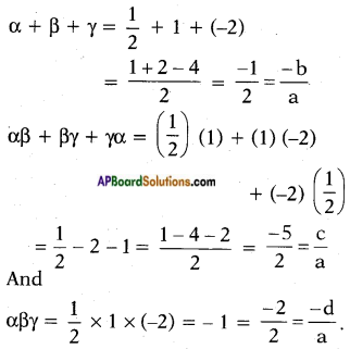 AP SSC 10th Class Maths Solutions Chapter 3 Polynomials Optional Exercise 2