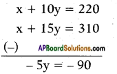 AP SSC 10th Class Maths Solutions Chapter 4 Pair of Linear Equations in Two Variables Ex 4.2 2