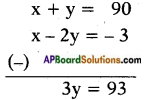 AP SSC 10th Class Maths Solutions Chapter 4 Pair of Linear Equations in Two Variables Ex 4.2 6