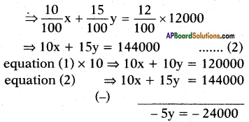 AP SSC 10th Class Maths Solutions Chapter 4 Pair of Linear Equations in Two Variables Ex 4.2 9