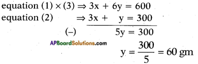 AP SSC 10th Class Maths Solutions Chapter 4 Pair of Linear Equations in Two Variables Optional Exercise 11